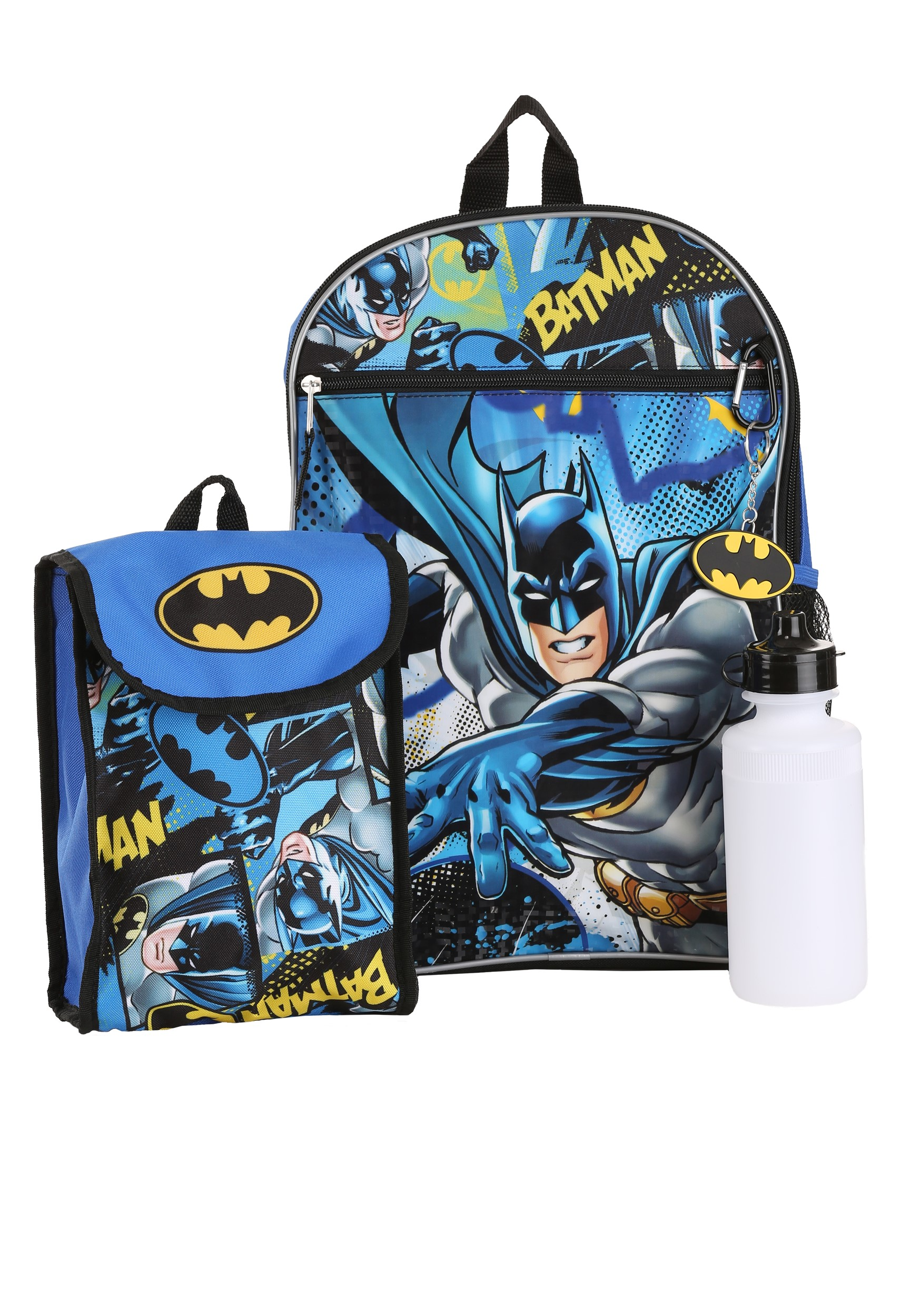 5 pc Batman/Batgirl Backpack Set
