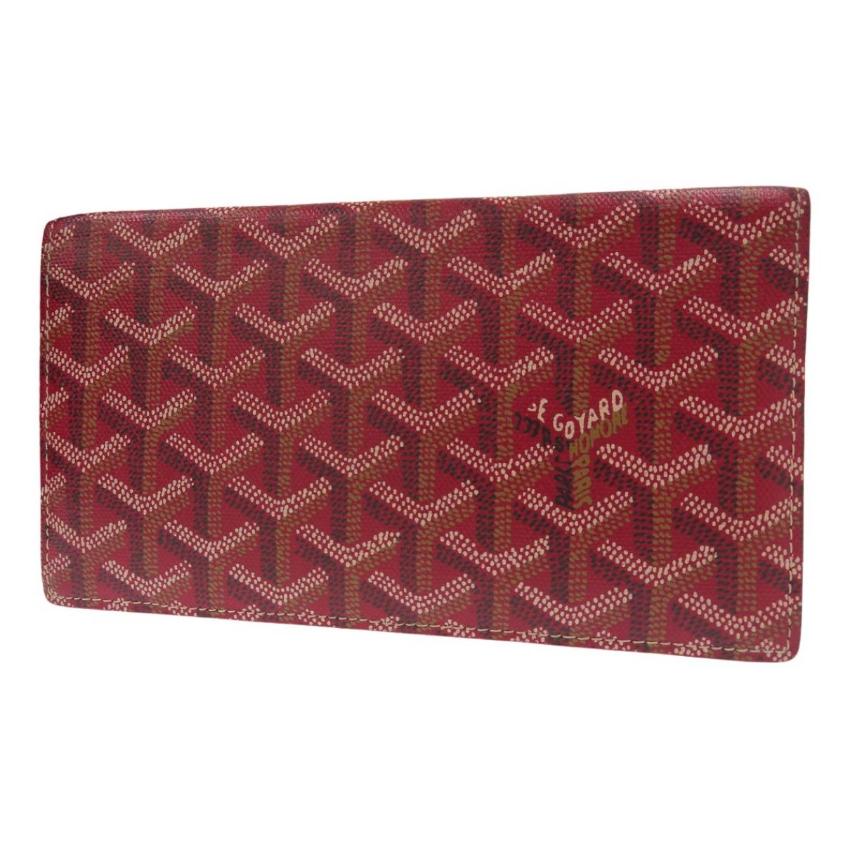 Goyard - Portefeuille   pour femme en toile - rouge