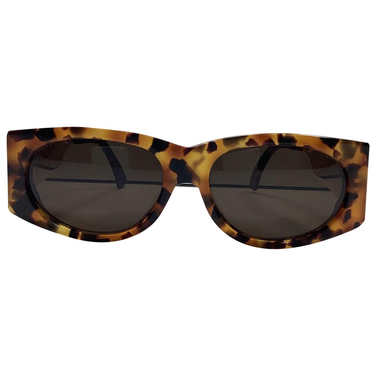 Claude Montana \N Brown Metal Sunglasses for Women \N