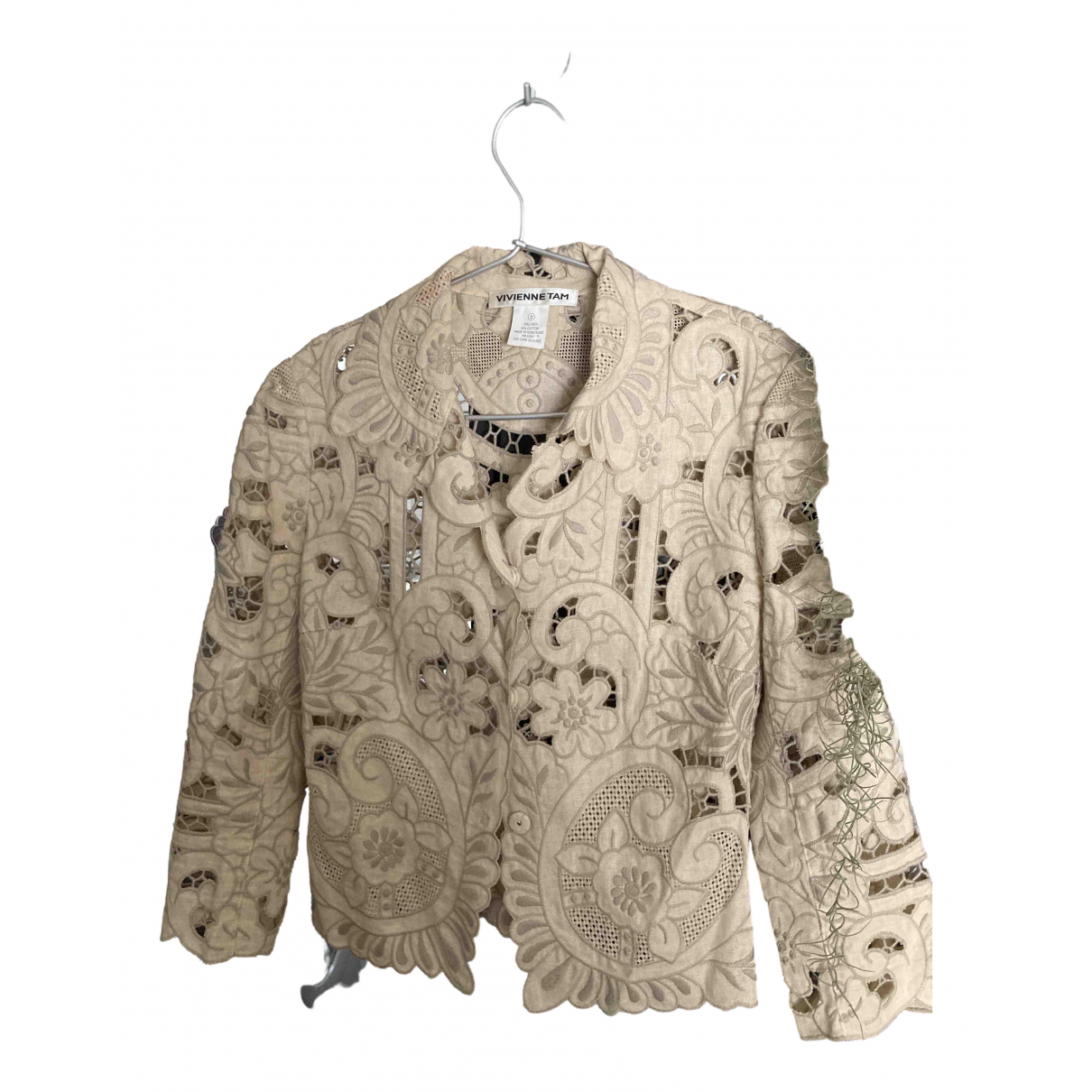 Vivienne Tam \N Beige Linen jacket for Women 0 0-5