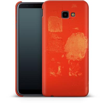 Samsung Galaxy J4 Plus Smartphone Huelle - Red Block Background von Brent Williams