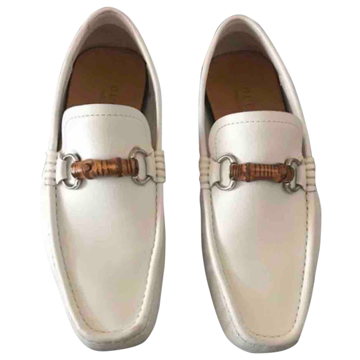 Gucci - Mocassins   pour homme en cuir - blanc