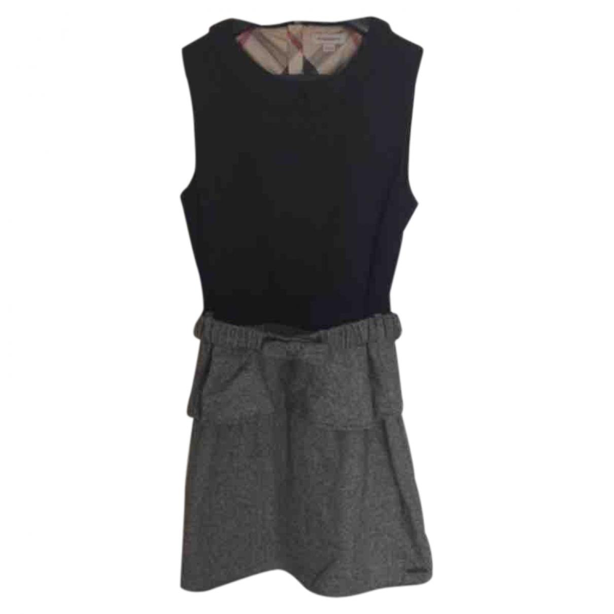 Burberry - Robe    pour enfant en coton - elasthane - noir