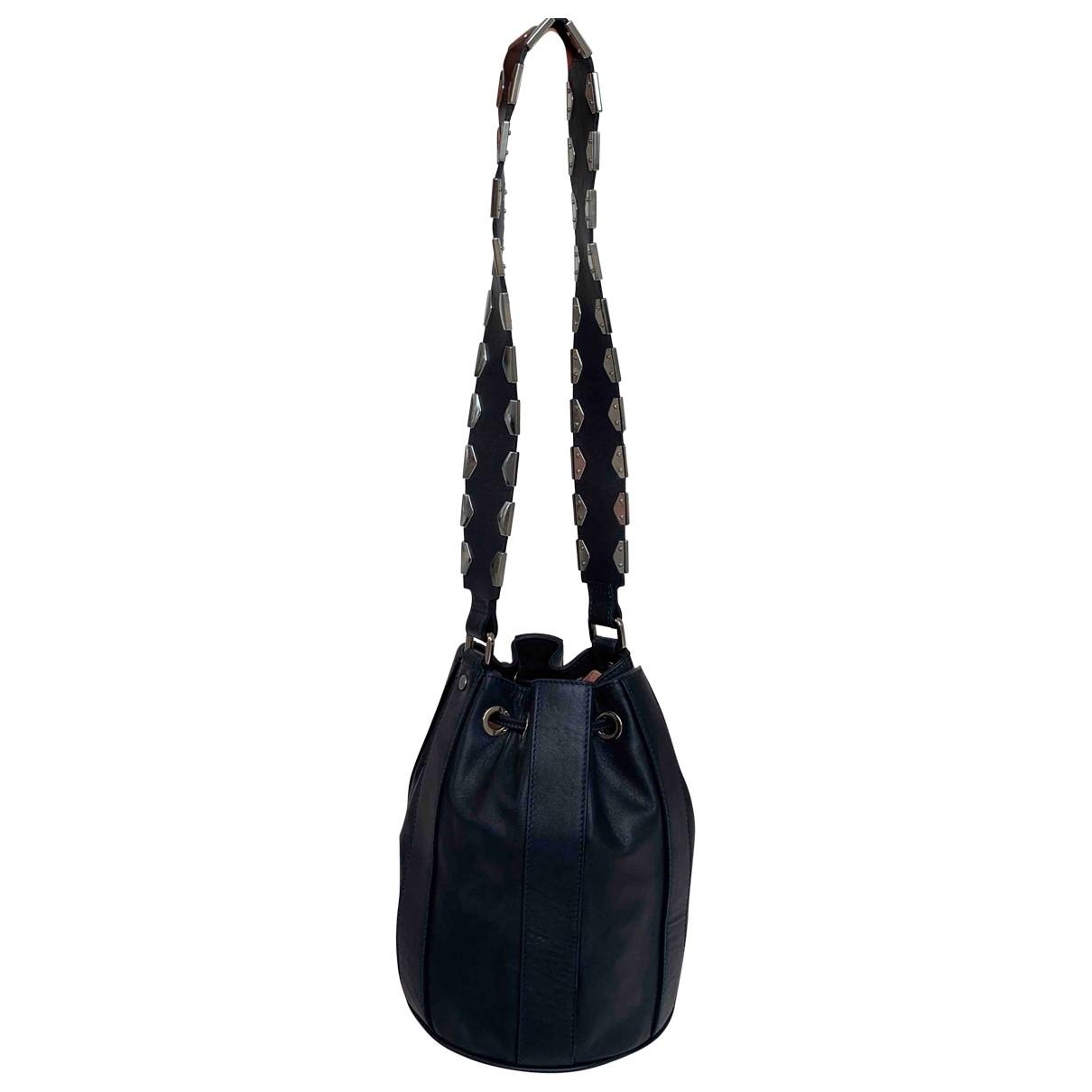 Diesel Black Gold \N Handtasche in  Blau Leder