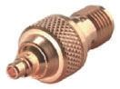 Huber & Suhner Straight 50Ω RF Adapter MMCX Plug to SMA Socket 6GHz