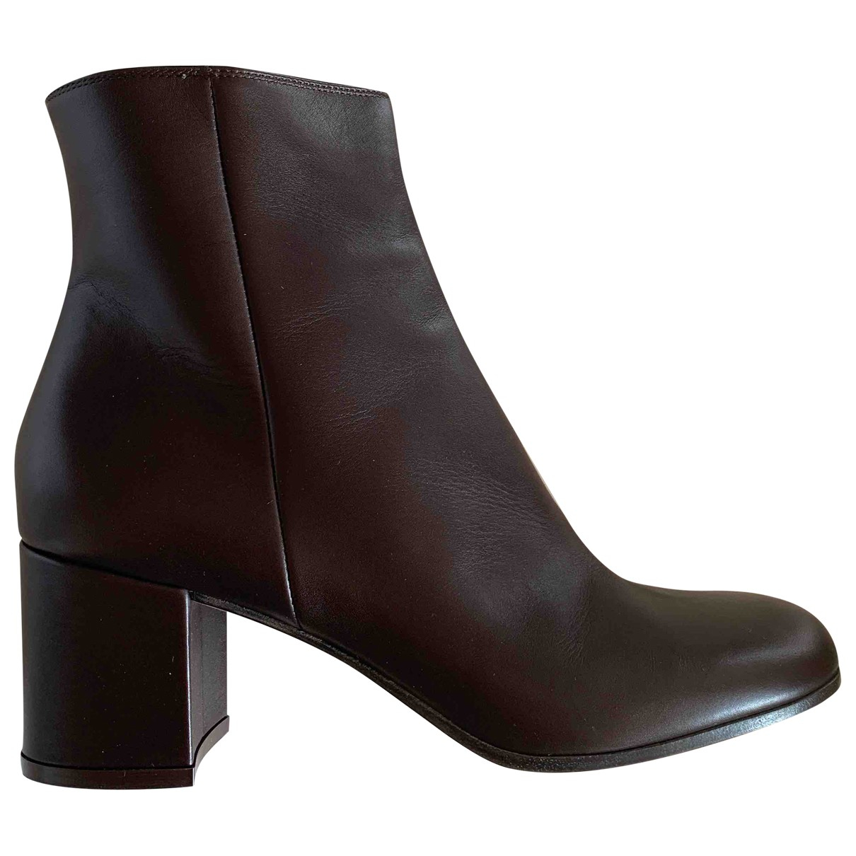Gianvito Rossi \N Brown Leather Ankle boots for Women 40 EU