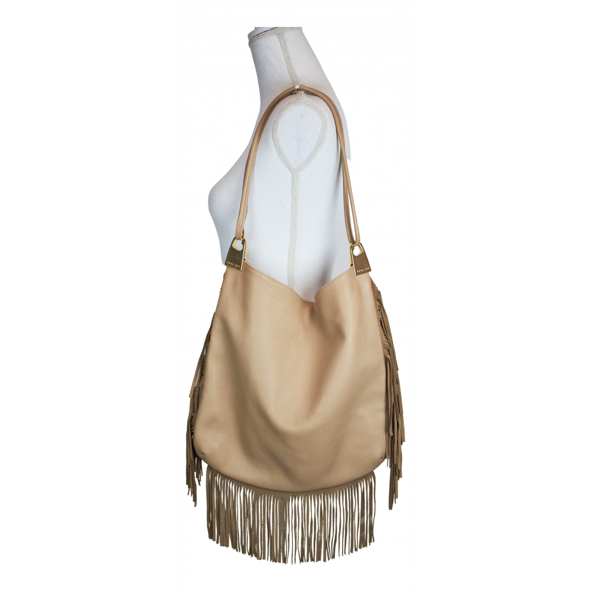Twin Set \N Handtasche in  Beige Leder