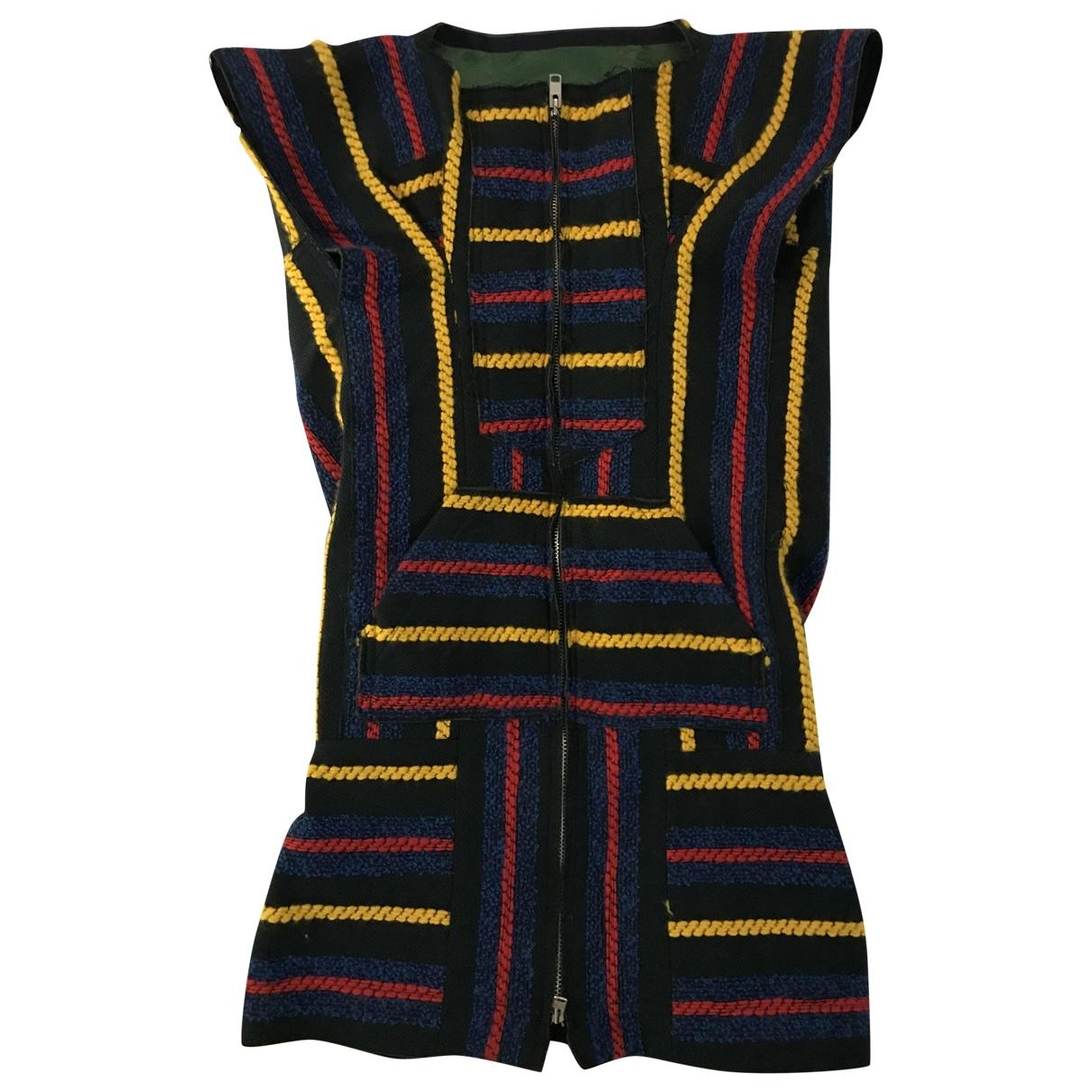Sacai - Robe   pour femme en laine - multicolore