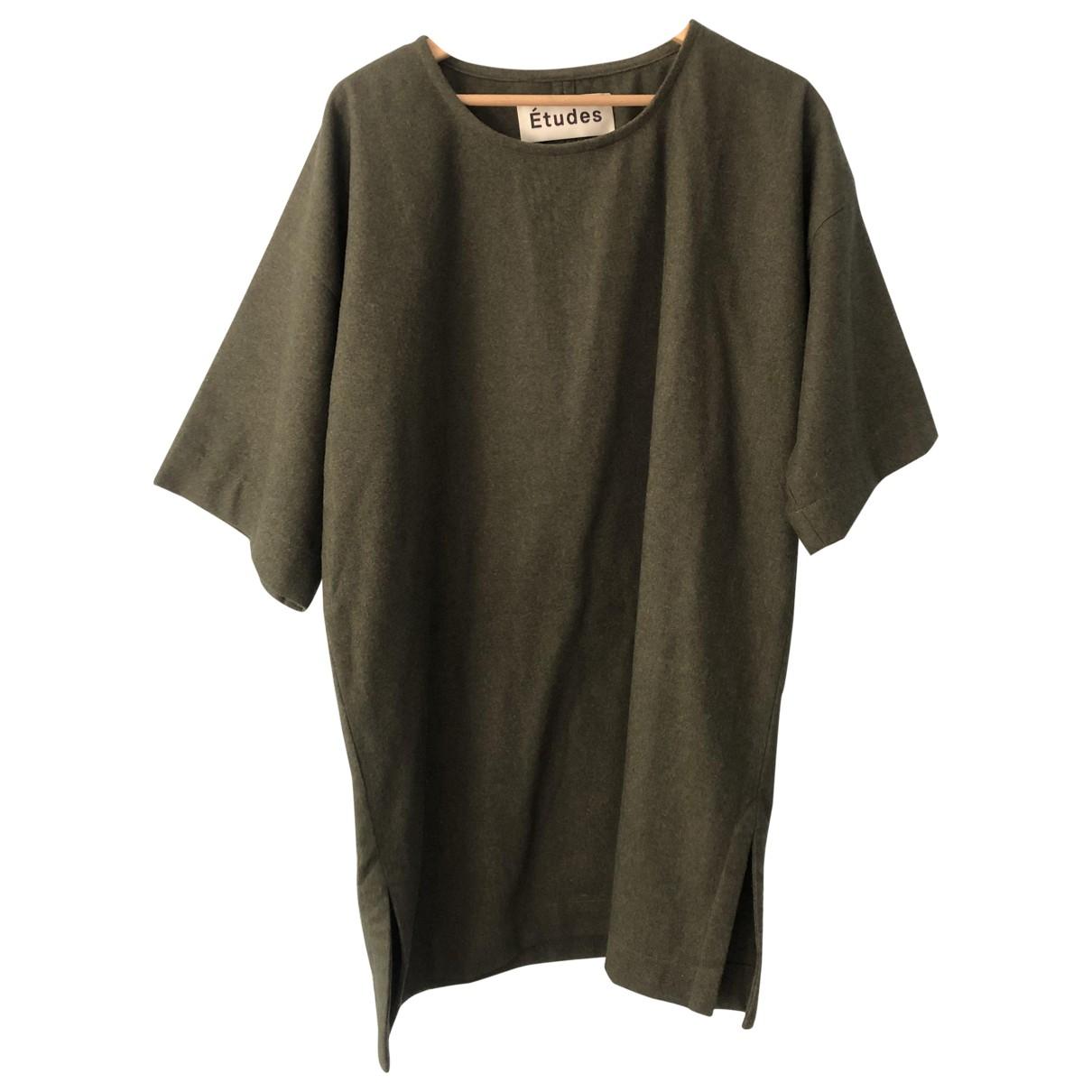 Etudes Studio \N Kleid in  Gruen Wolle