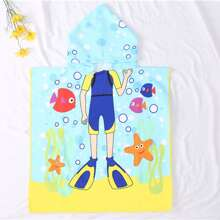 Kids Cartoon Graphic Bath Towel