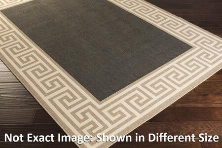 Alfresco ALF9626-89129 89 x 129 Rectangular 100% Polypropylene Rug with No Shedding  Easy Care  Low Pile  Loop Texture  and Machine Made in Egypt