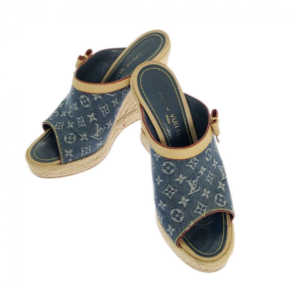 Louis Vuitton \N Blue Cloth Sandals for Women 37 EU