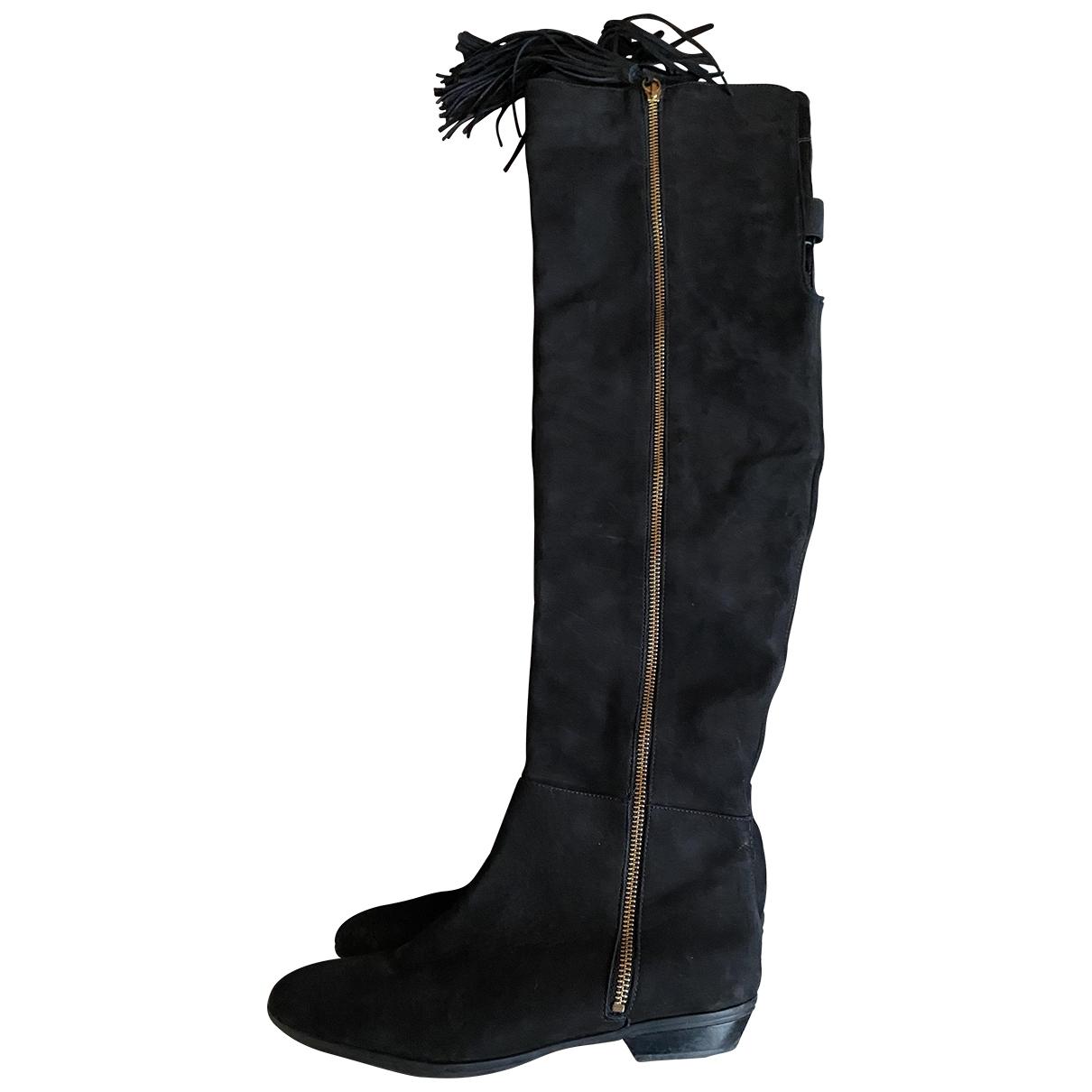 Schutz - Bottes   pour femme en cuir - noir