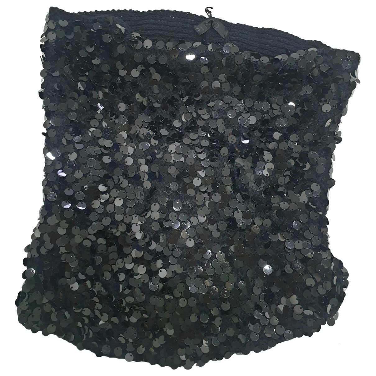 Pinko - Foulard   pour femme en a paillettes - noir