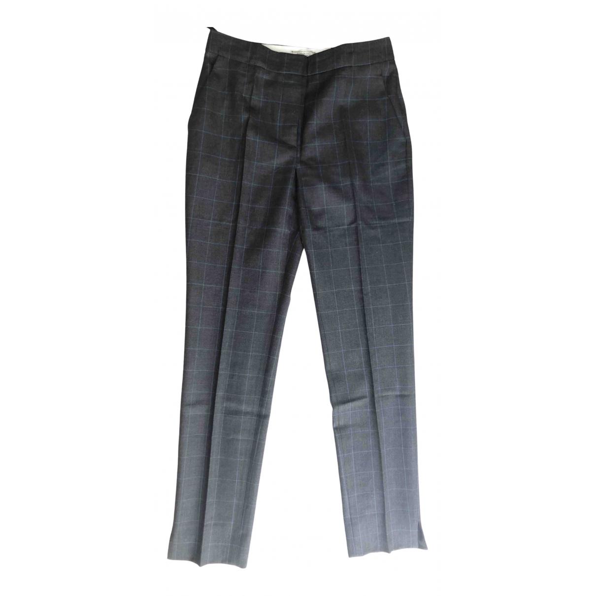 Nina Ricci - Pantalon   pour femme en laine - anthracite
