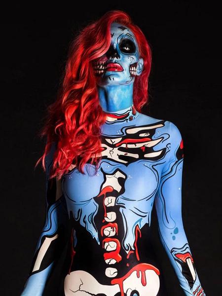 Milanoo Disfraz de Halloween Scary Zentai Halloween Outfit