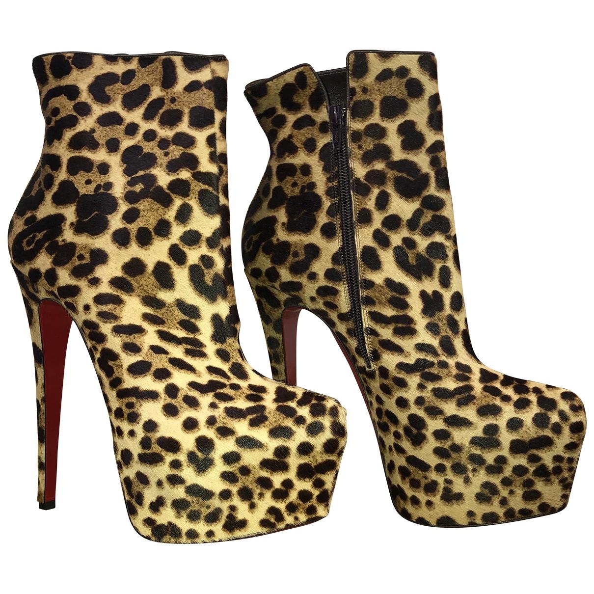 Christian Louboutin - Boots   pour femme en veau facon poulain - multicolore
