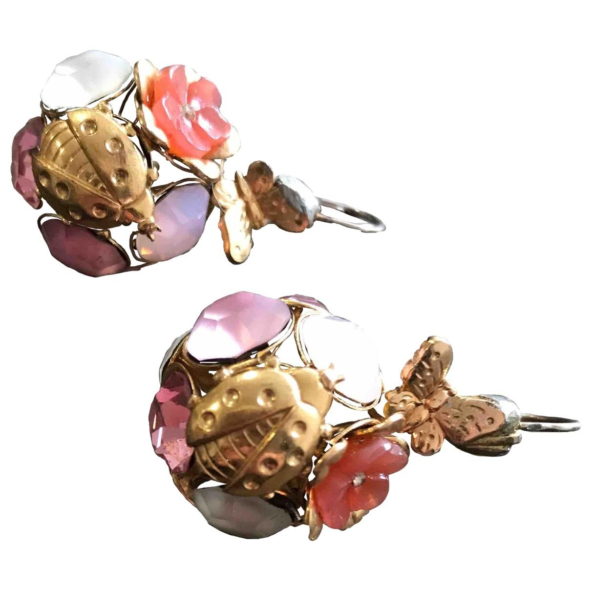 Reminiscence - Boucles doreilles   pour femme en metal - rose