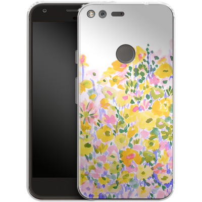 Google Pixel Silikon Handyhuelle - Flower Fields Sunshine von Amy Sia