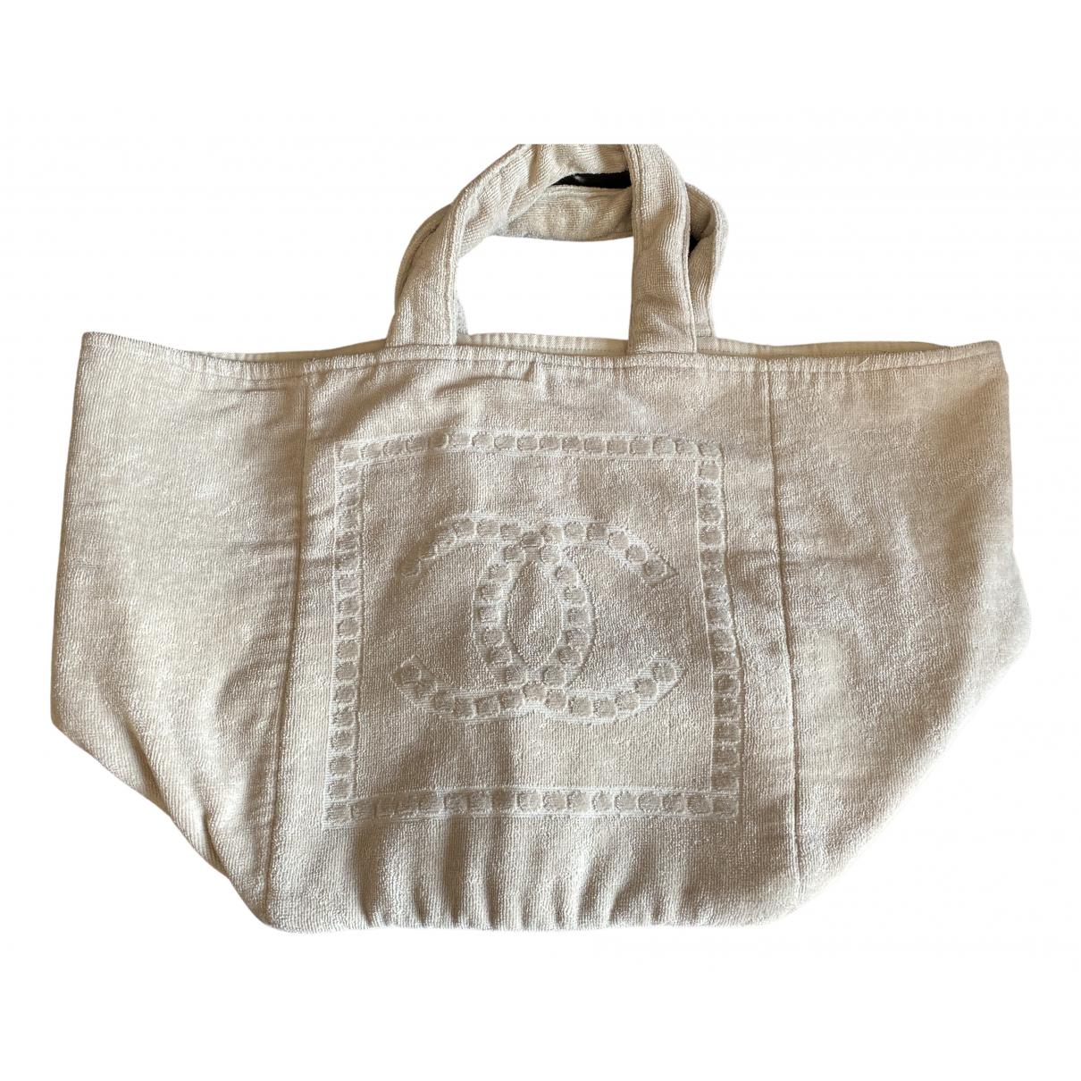 Chanel - Sac de voyage   pour femme en coton - beige
