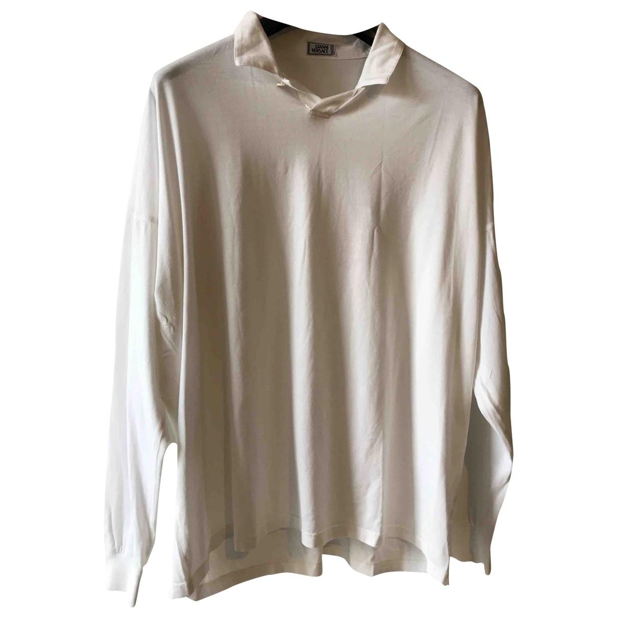 Gianni Versace - Polos   pour homme en coton - blanc