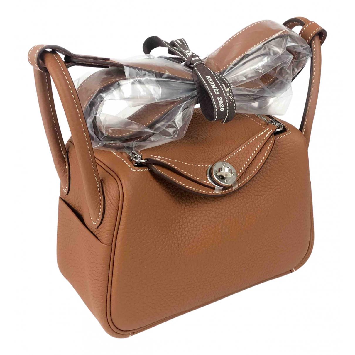 Hermes Lindy Handtasche in  Kamel Leder