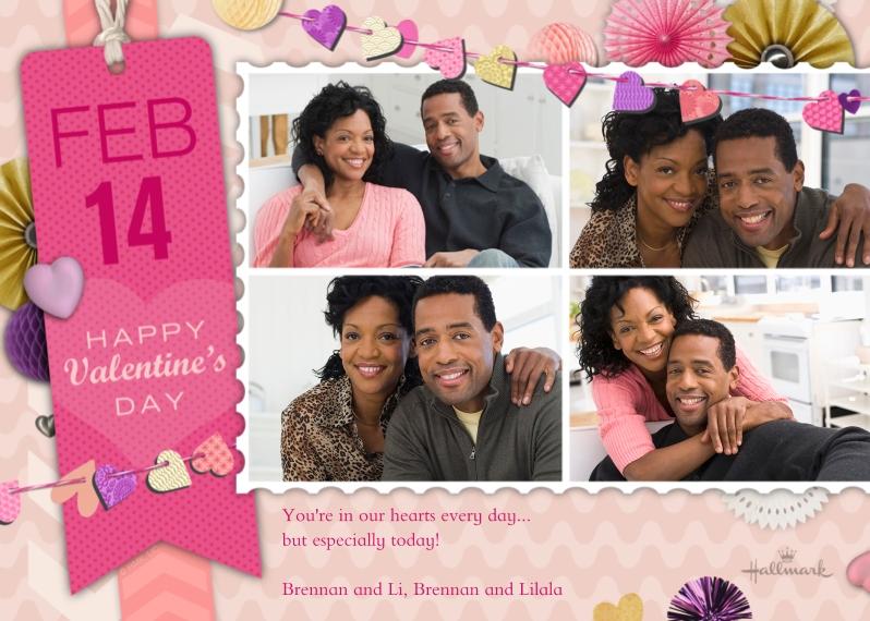 Valentine's Cards Mail-for-Me Premium 5x7 Flat Card, Card & Stationery -Valentine Scrapbook