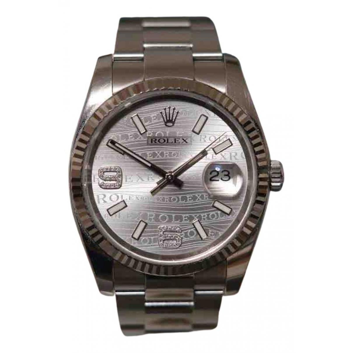 Rolex - Montre Oyster Perpetual 36mm pour femme en or et acier - argente