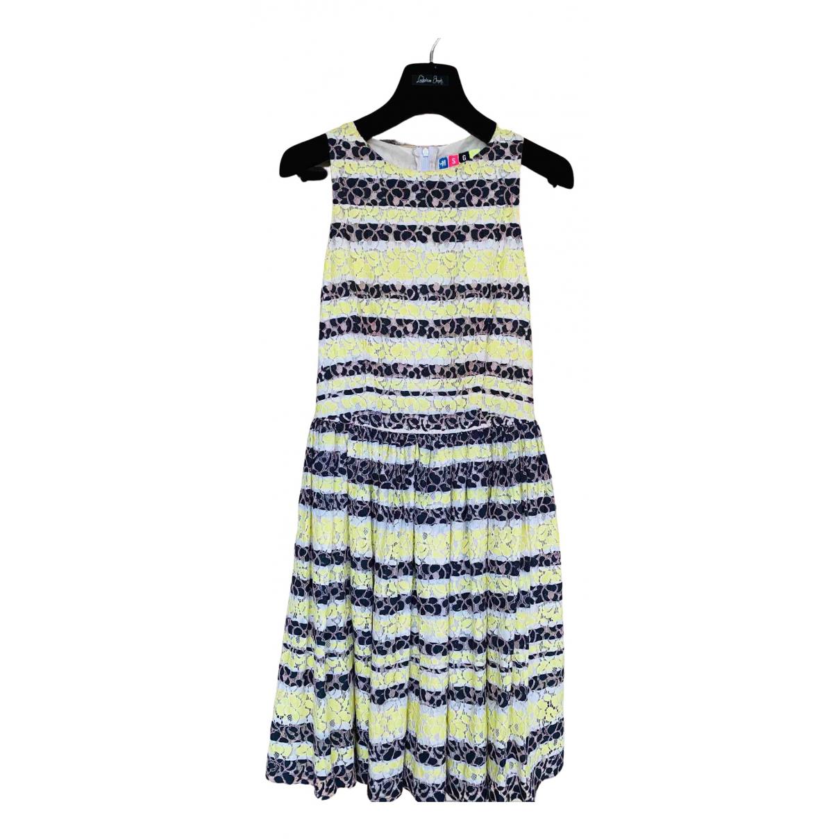 Msgm N Yellow Cotton dress for Women 38 IT