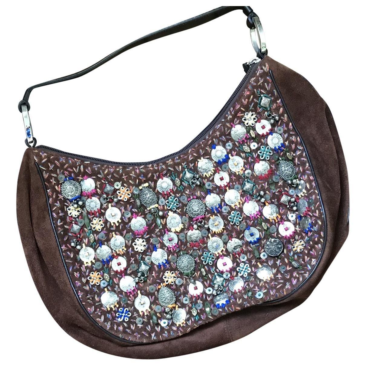 Oscar De La Renta \N Brown Suede handbag for Women \N