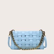 Minimalist Braided Baguette Bag