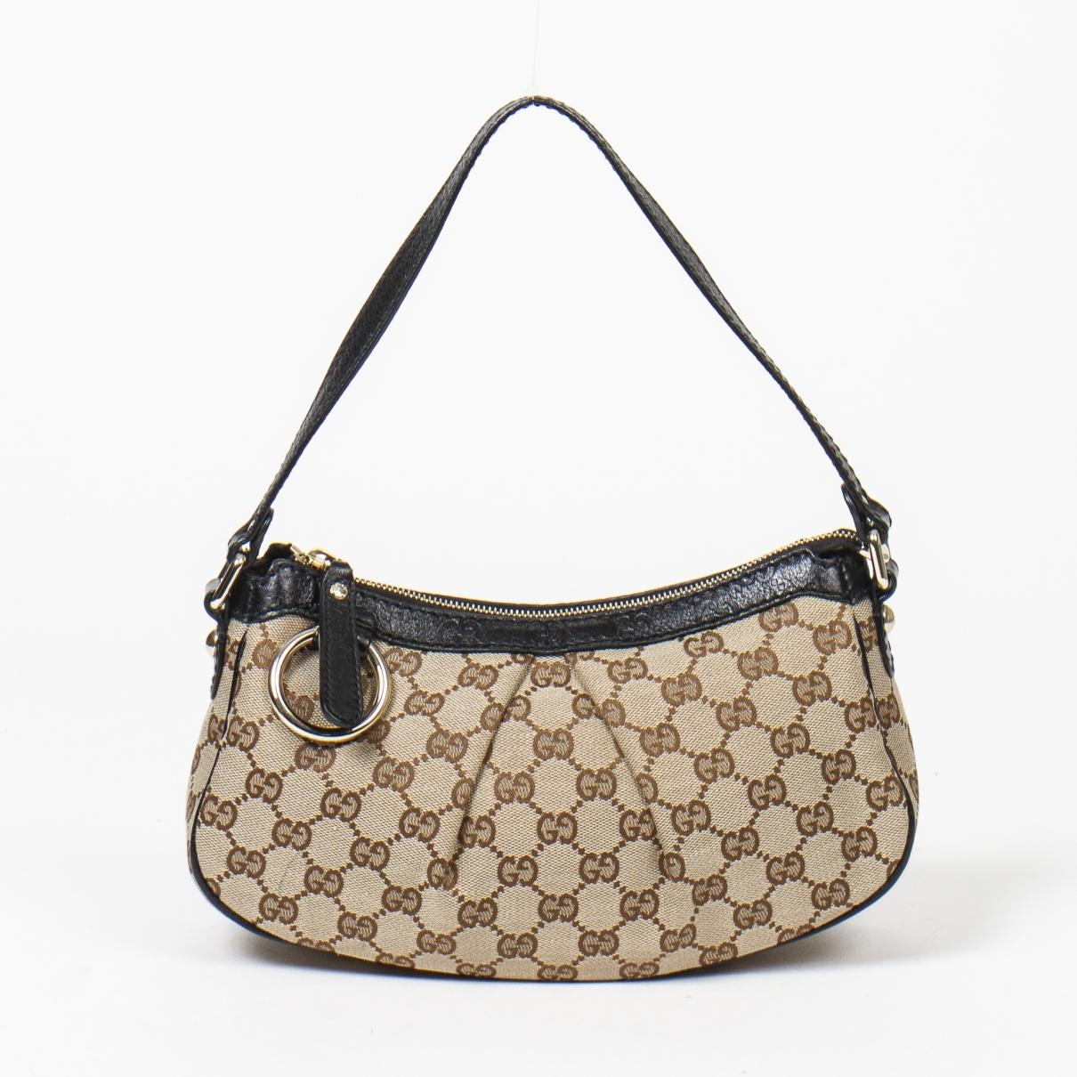 Gucci Hobo Handtasche in  Braun Leder