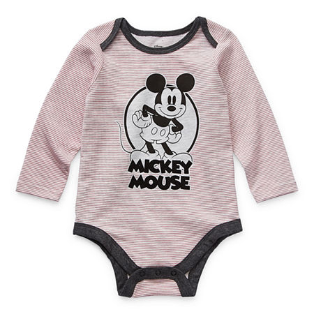 Okie Dokie Baby Boys Mickey Mouse Bodysuit, 3 Months , Red
