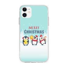 iPhone Schutzhuelle mit Weihnachten Pinguin Muster