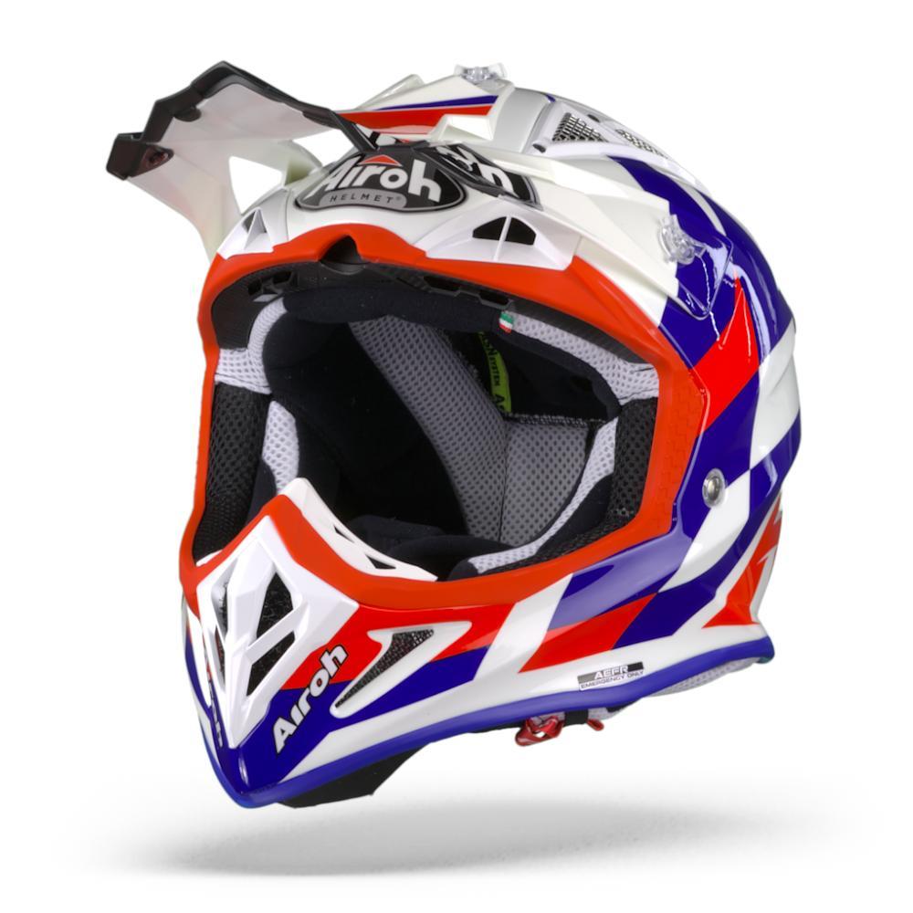 Airoh Aviator ACE Trick Casco Motocross Azul  S