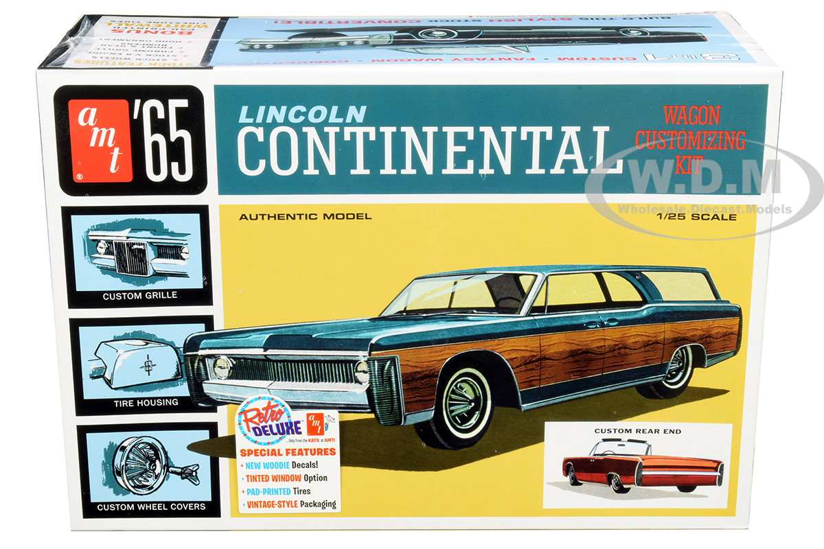 Skill 2 Model Kit 1965 Lincoln Continental 3 in 1 Kit 1/25 Scale Model by AMT
