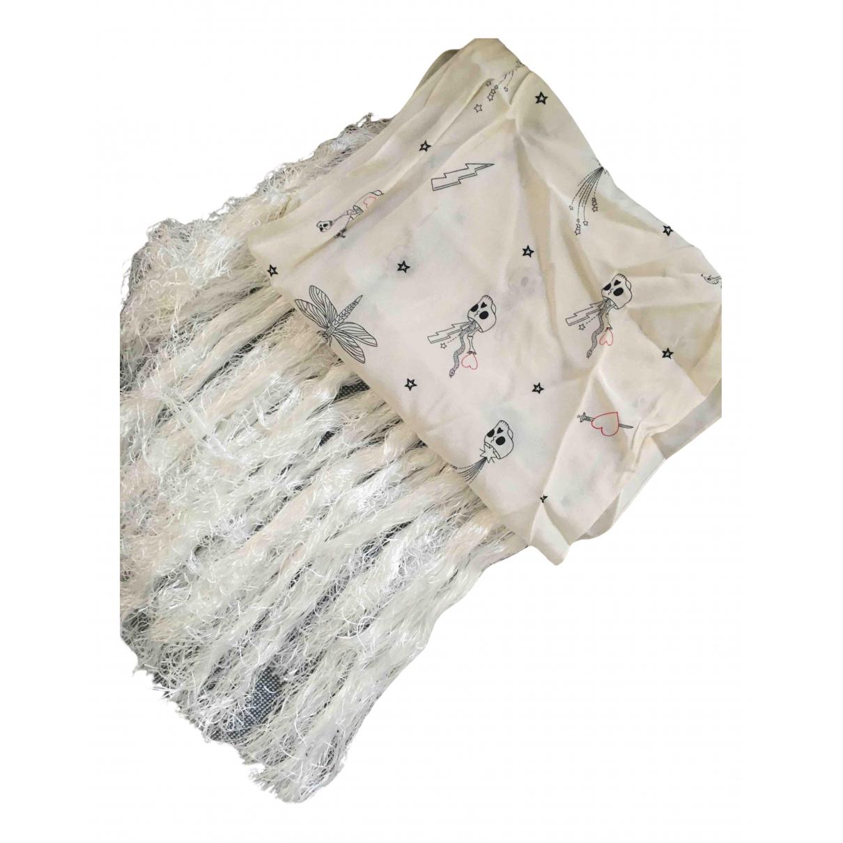 Alexander Mcqueen - Foulard   pour femme en coton - blanc