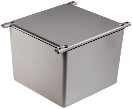 RS PRO Grey Die Cast Aluminium Alloy Enclosure, Flanged, 120.5 x 120.5 x 95.2mm