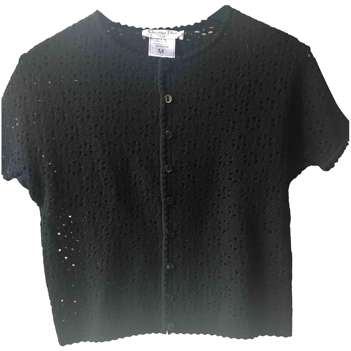Dior - Top   pour femme en laine - noir