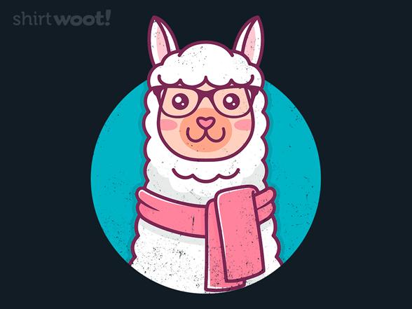 Kawaii Hipster Llama T Shirt