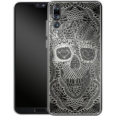 Huawei P20 Pro Silikon Handyhuelle - Lace Skull von Ali Gulec