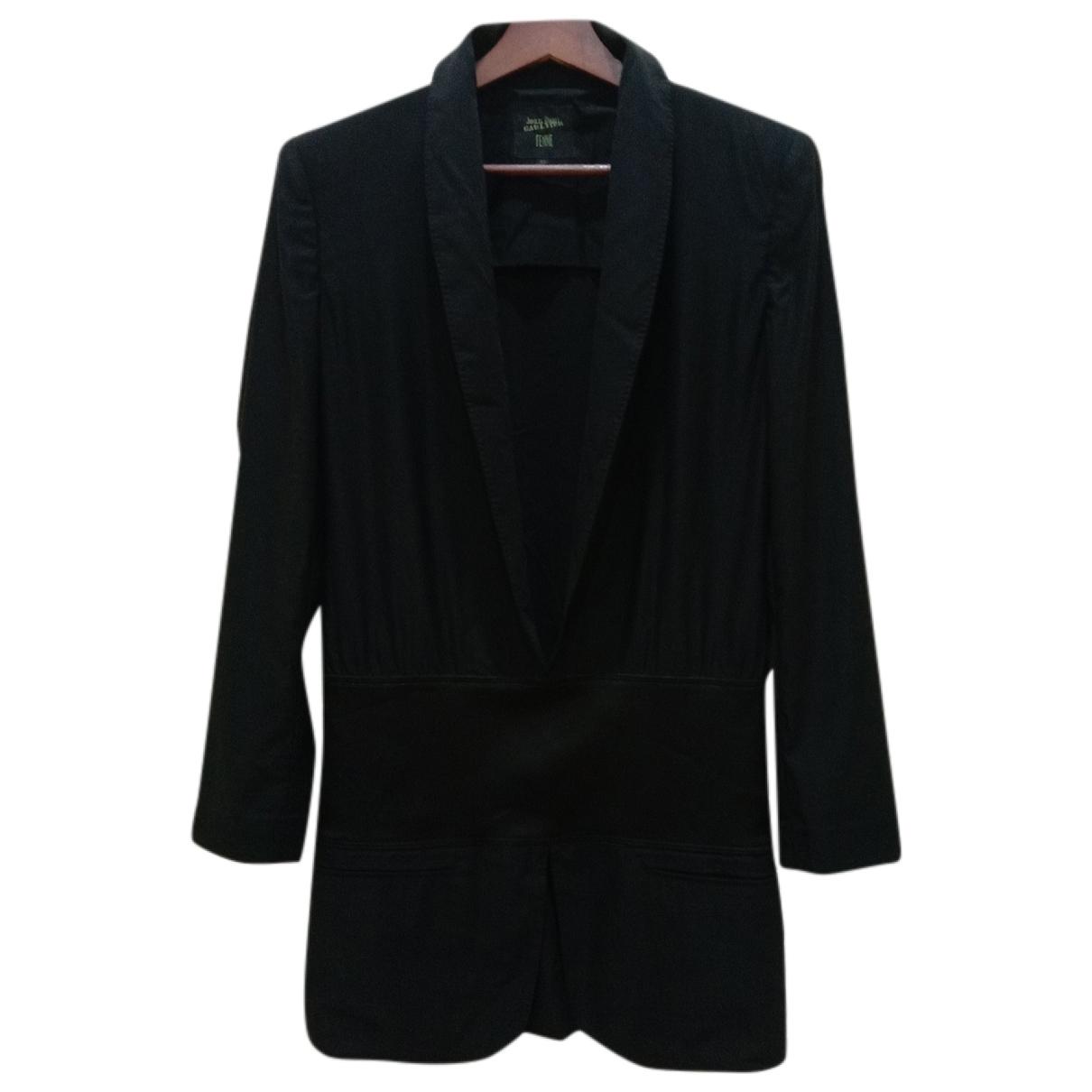 Jean Paul Gaultier - Manteau   pour femme en coton - noir