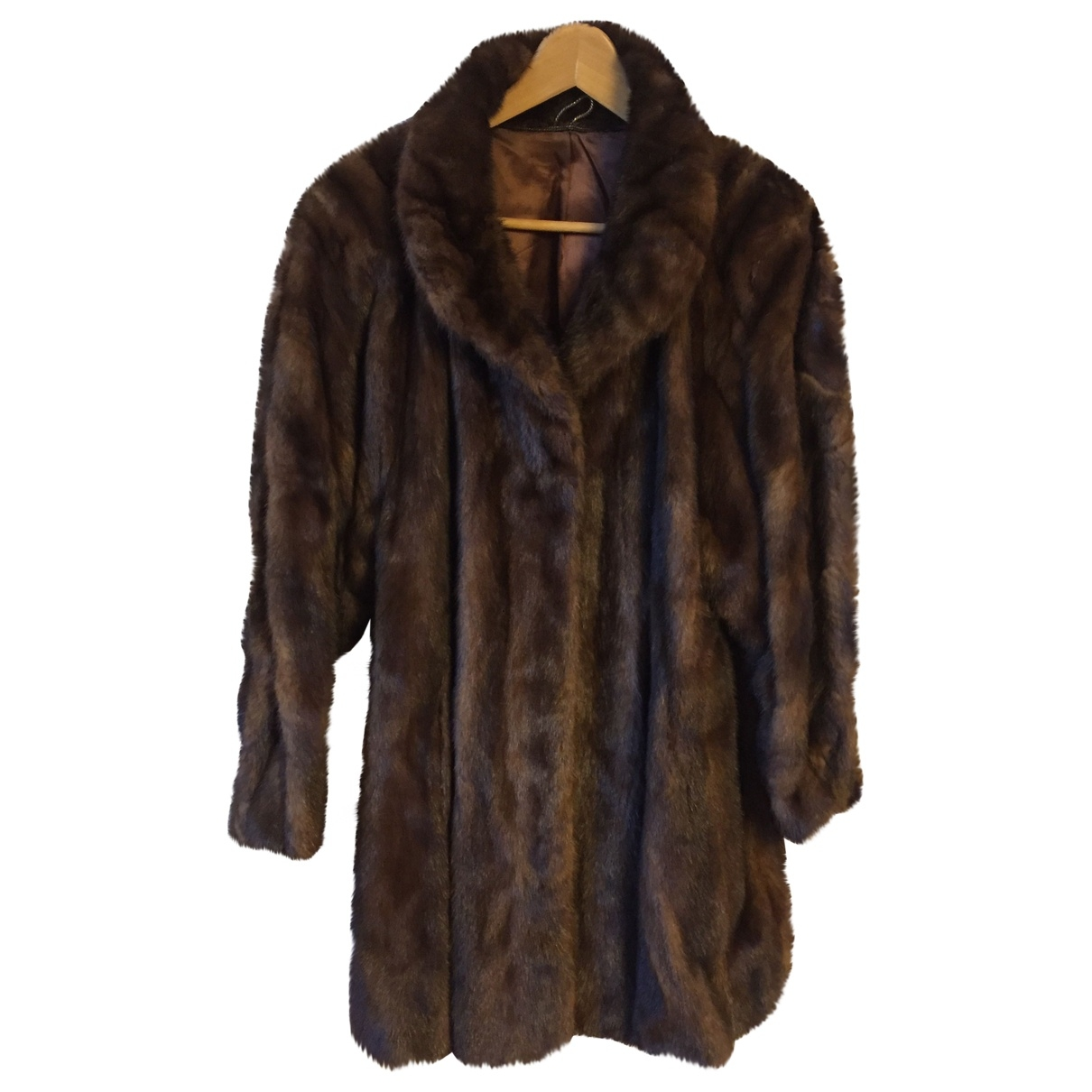 Non Signé / Unsigned \N Brown Mink coat for Women M International