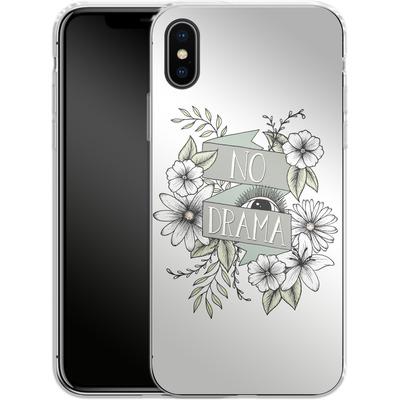 Apple iPhone X Silikon Handyhuelle - No Drama - Green von Barlena