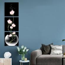 Wandbild mit Blume Muster 3pcs
