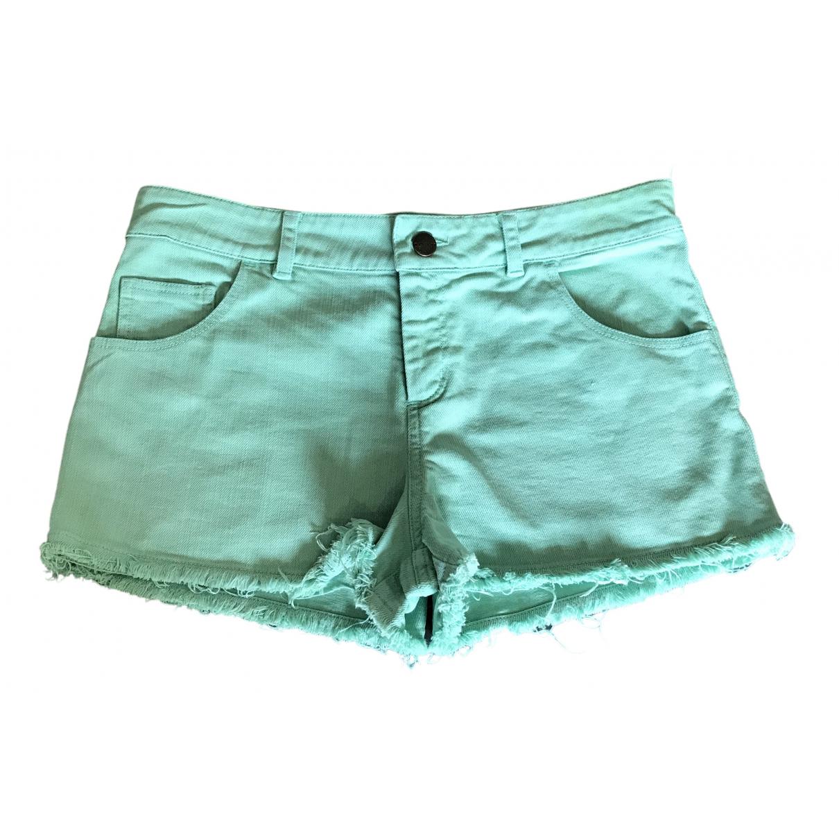 Masscob \N Green Cotton - elasthane Shorts for Women 38 FR