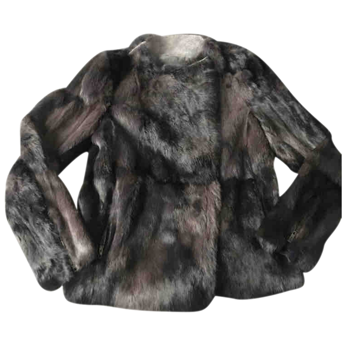 Non Signé / Unsigned \N Anthracite Rabbit jacket for Women 44 IT