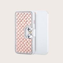 1pc Rhinestone Cover Samsung Wallet Case
