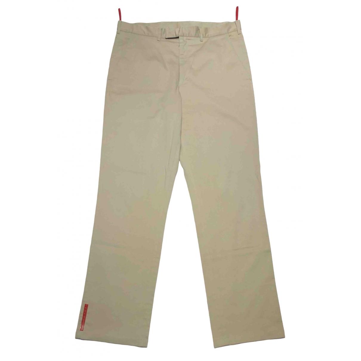 Prada \N Beige Cotton Trousers for Men 50 IT