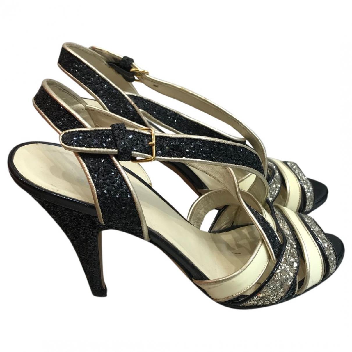 Miu Miu - Sandales   pour femme en cuir - noir
